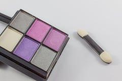 空白背景的化妆用品 免版税库存图片