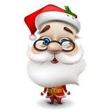 空白背景的圣诞老人 免版税库存图片
