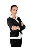 空白背景的女实业家 免版税库存图片