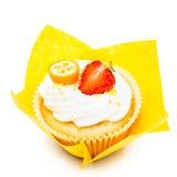 空白背景的杯形蛋糕 库存图片