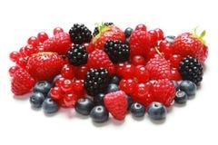 空白背景的浆果 免版税图库摄影