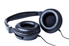 空白背景的耳机 免版税库存图片