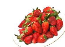 空白背景的草莓 库存图片