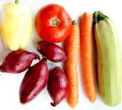 空白背景的蔬菜 免版税库存图片