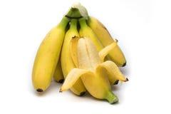 空白背景的香蕉 免版税库存图片