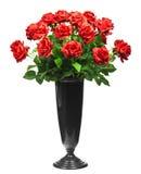 空白背景花束查出的红色的玫瑰 免版税库存图片