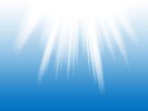 空白背景蓝色的光线 免版税库存照片