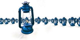 空白背景蓝色的灯笼 库存图片