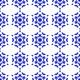 空白背景蓝色的雪花 库存照片