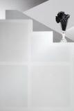 空白背景黑色玻璃的台阶 免版税图库摄影
