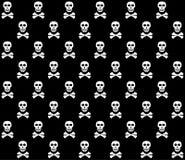 空白背景黑色的头骨 免版税库存图片