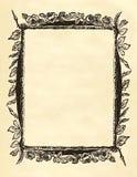 空白花卉框架维多利亚女王时代的著名人物 免版税库存图片