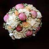 空白花束粉红色玫瑰色的玫瑰 免版税图库摄影