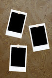 空白董事会构成木即时的照片 免版税库存图片
