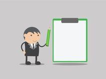 空白董事会生意人 空白董事会 企业例证传染媒介 企业动画片 免版税库存照片