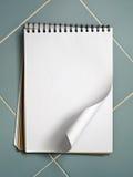 空白蓝皮书草图白色 免版税图库摄影
