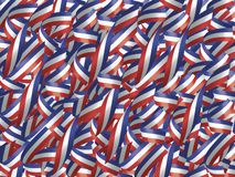 空白蓝色红色的丝带 图库摄影