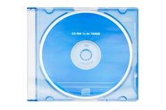 空白蓝色cd rw 免版税库存图片