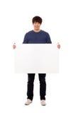 空白藏品人面板年轻人 免版税图库摄影