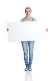 空白藏品符号whiteboard妇女 图库摄影