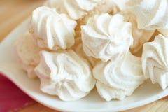 空白蛋白甜饼 免版税库存照片