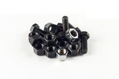 空白螺栓的螺母 免版税库存照片
