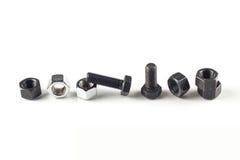 空白螺栓的螺母 免版税图库摄影