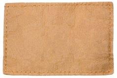 空白衣物牛仔裤标记皮革轻的标签 免版税库存照片