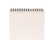 空白表面笔记本一个纸白色 免版税图库摄影