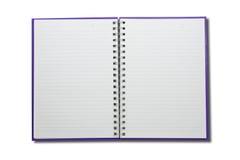 空白表面笔记本开张二 图库摄影