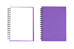 空白表面笔记本开张二 库存照片