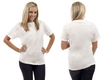 空白衬衣白色 免版税库存图片