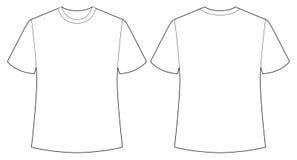 空白衬衣 向量例证