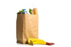 空白袋子的副食品 免版税图库摄影