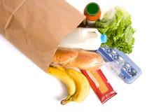 空白袋子的副食品 库存照片