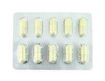 空白装箱的药片 免版税库存图片