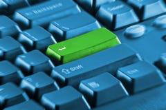 空白计算机绿色关键字关键董事会 图库摄影