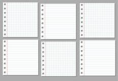 空白记事本纸张 免版税库存照片