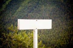 空白路标 免版税图库摄影