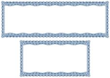 空白边界认可文凭扭索状装饰 免版税库存照片