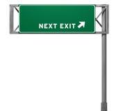 空白退出高速公路符号 皇族释放例证
