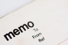 空白通知单笔记本填充 免版税库存照片