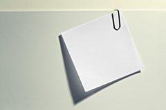 空白通知单附有文件 库存图片
