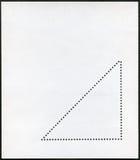 空白邮票块 图库摄影