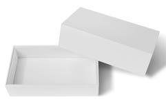 空白配件箱开放纸张 库存照片