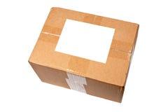 空白配件箱标签 库存图片