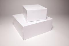空白配件箱灰色白色 图库摄影