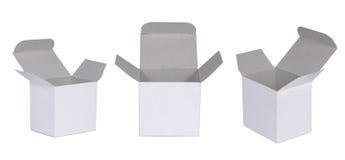 空白配件箱白色 库存照片