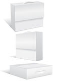空白配件箱盒例证集合向量 免版税库存图片