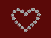 空白重点的玫瑰 免版税库存照片